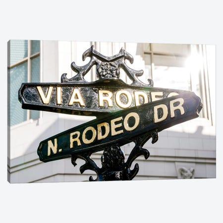 Rodeo Drive Street Sign  Canvas Print #SKR202} by Susanne Kremer Canvas Art Print