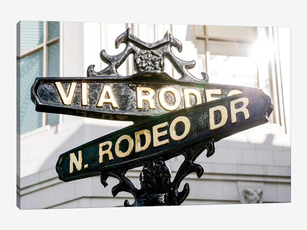 Rodeo Drive Street Sign  by Susanne Kremer 1-piece Canvas Wall Art