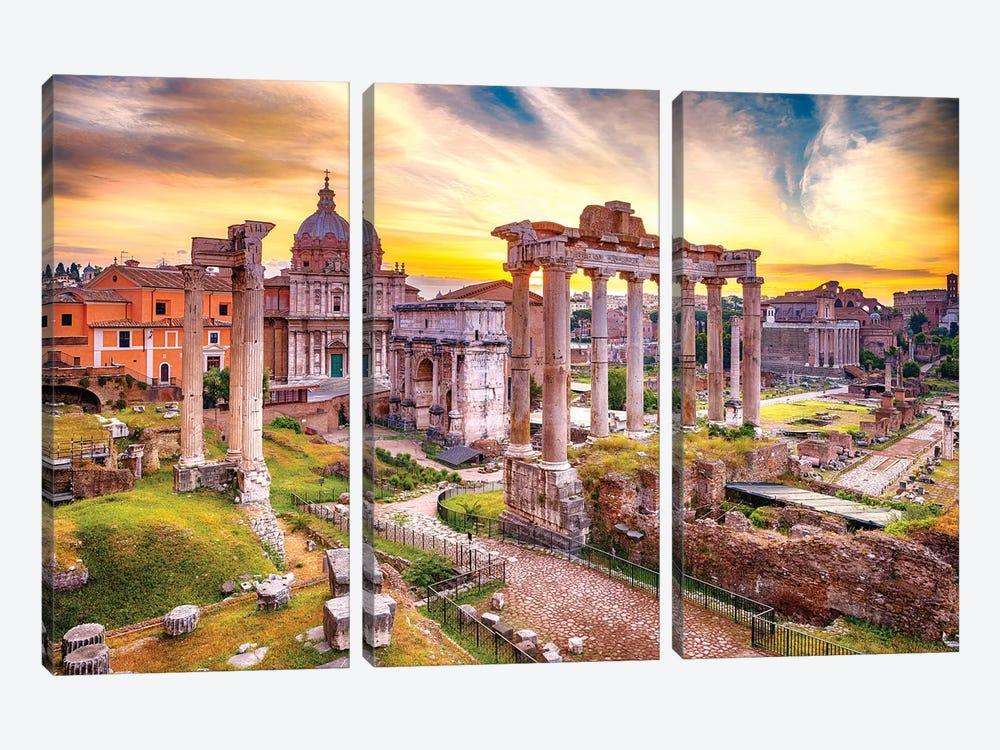 Roman Forum I by Susanne Kremer 3-piece Canvas Art Print
