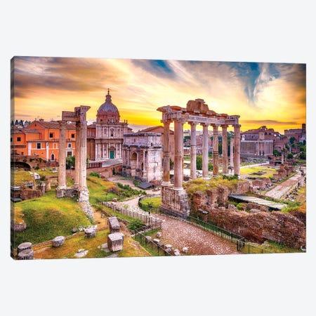 Roman Forum I Canvas Print #SKR203} by Susanne Kremer Canvas Art Print