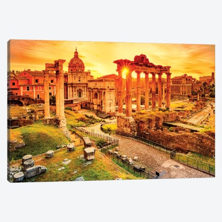 Roman Forum II Canvas Print #SKR204} by Susanne Kremer Canvas Artwork