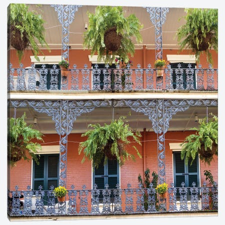 Royal Street, French Quarter Canvas Print #SKR205} by Susanne Kremer Canvas Wall Art