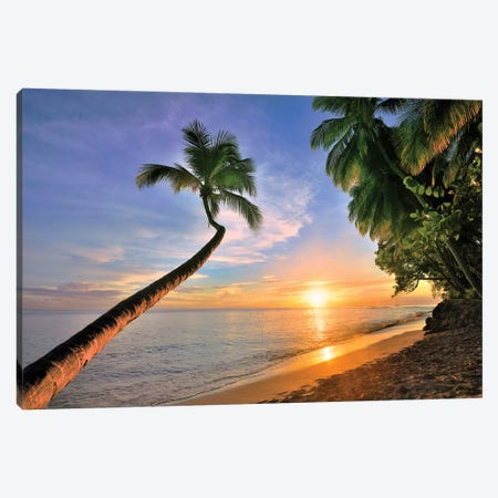 Sandpiper Hotel Beach Sunset  3-Piece Canvas #SKR207} by Susanne Kremer Canvas Artwork