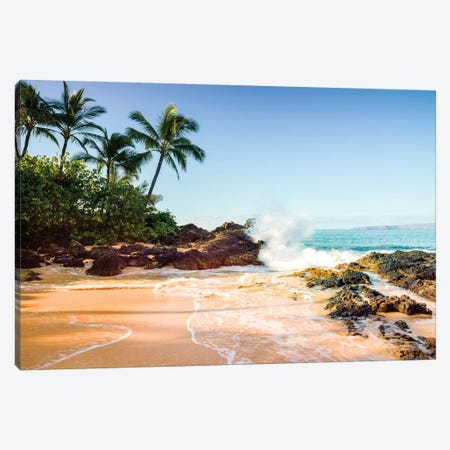 Secret Cove Makena Beach  Canvas Print #SKR208} by Susanne Kremer Art Print