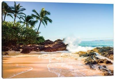 Secret Cove Makena Beach  Canvas Art Print