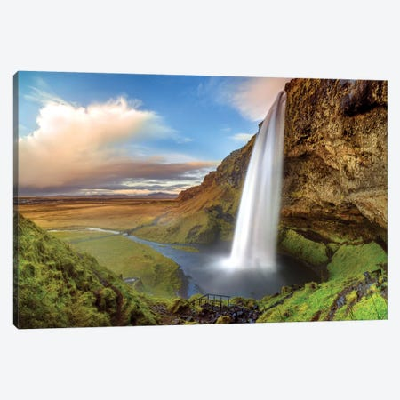 Seljalandsfoss Waterfall I Canvas Print #SKR209} by Susanne Kremer Art Print