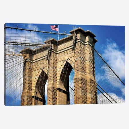 Brooklyn Bridge I Canvas Print #SKR20} by Susanne Kremer Canvas Wall Art