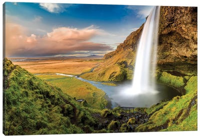 Seljalandsfoss Waterfall II Canvas Art Print