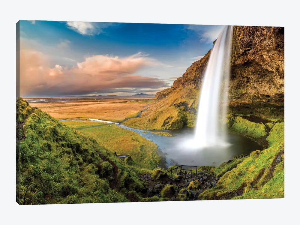 Seljalandsfoss Waterfall II by Susanne Kremer 1-piece Canvas Print