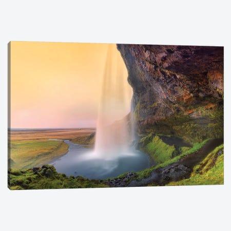 Seljalandsfoss Waterfall III Canvas Print #SKR211} by Susanne Kremer Canvas Artwork