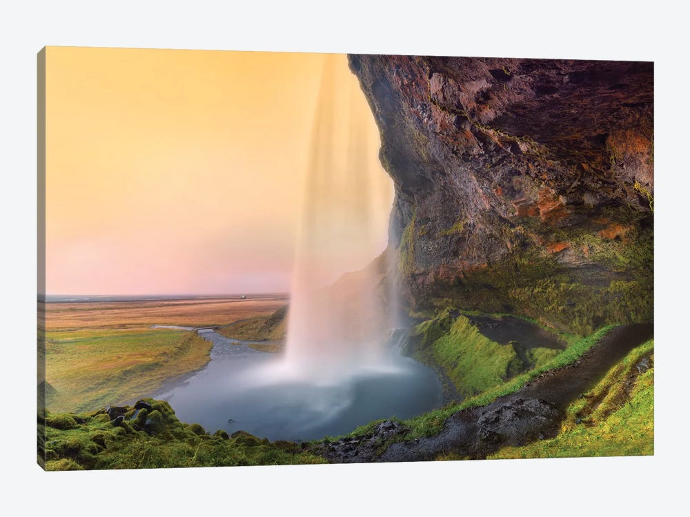 Seljalandsfoss Waterfall III by Susanne Kremer 1-piece Canvas Artwork