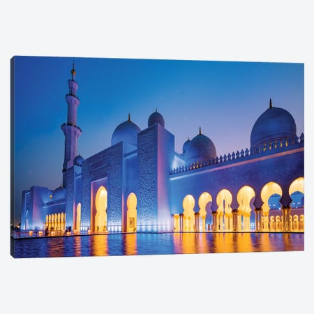 Sheikh Zayed Grand Mosque II Canvas Print #SKR213} by Susanne Kremer Canvas Art