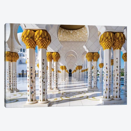 Sheikh Zayed Grand Mosque III Canvas Print #SKR214} by Susanne Kremer Art Print
