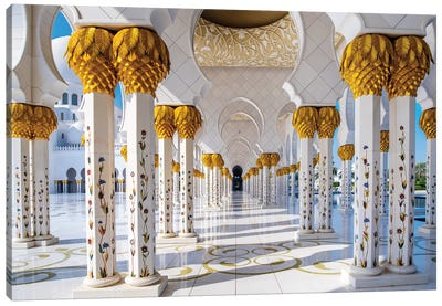 Sheikh Zayed Grand Mosque III Canvas Art Print