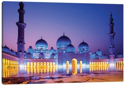 Sheikh Zayed Grand Mosque V Canvas Art Print
