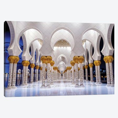 Sheikh Zayed Grand Mosque VI Canvas Print #SKR217} by Susanne Kremer Canvas Print