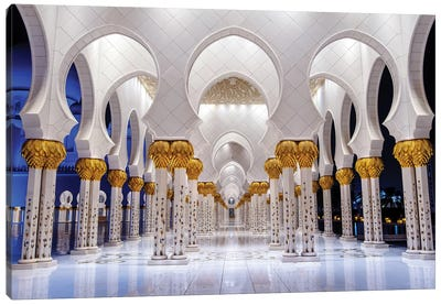 Sheikh Zayed Grand Mosque VI Canvas Art Print
