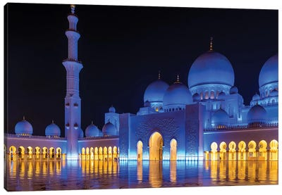 Sheikh Zayed Grand Mosque VII Canvas Art Print