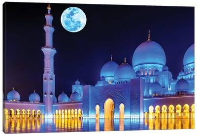 Sheikh Zayed Grand Mosque VIII Canvas Art Print