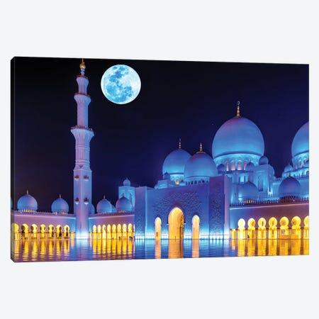Sheikh Zayed Grand Mosque VIII Canvas Print #SKR219} by Susanne Kremer Canvas Artwork