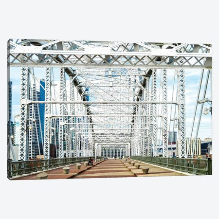 Shelby Pedestrian Bridge, Cumberland River  Canvas Print #SKR220} by Susanne Kremer Art Print