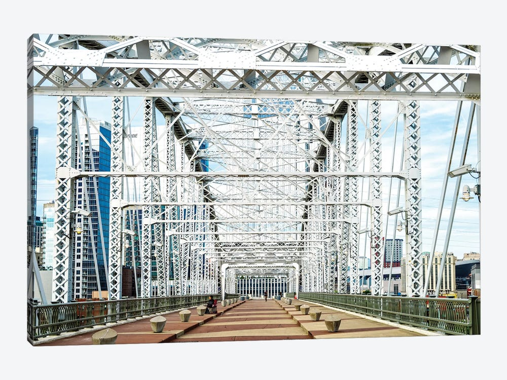 Shelby Pedestrian Bridge, Cumberland River  by Susanne Kremer 1-piece Canvas Art