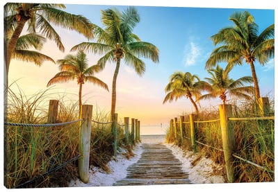 Smathers Beach Canvas Art Print