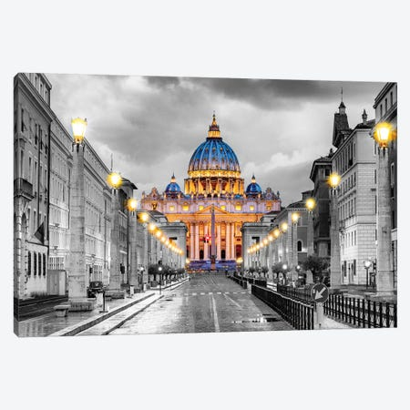 St. Peters Basilica Vatican City  Canvas Print #SKR225} by Susanne Kremer Canvas Art