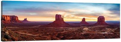 Sunrise Monument Valley Navajo Tribal Park  Canvas Art Print