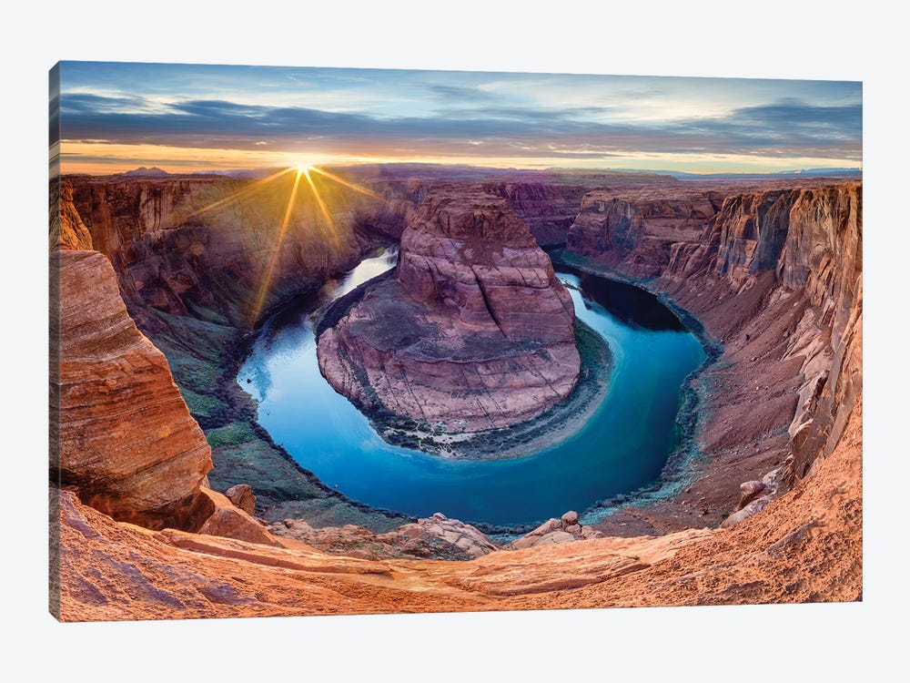 Sunset At Horseshoe Bend and Colorado River   by Susanne Kremer 1-piece Art Print
