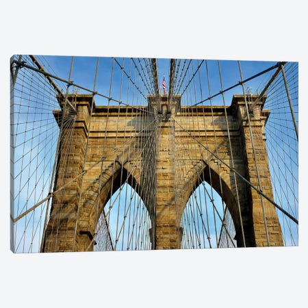 Brooklyn Bridge III Canvas Print #SKR22} by Susanne Kremer Canvas Artwork