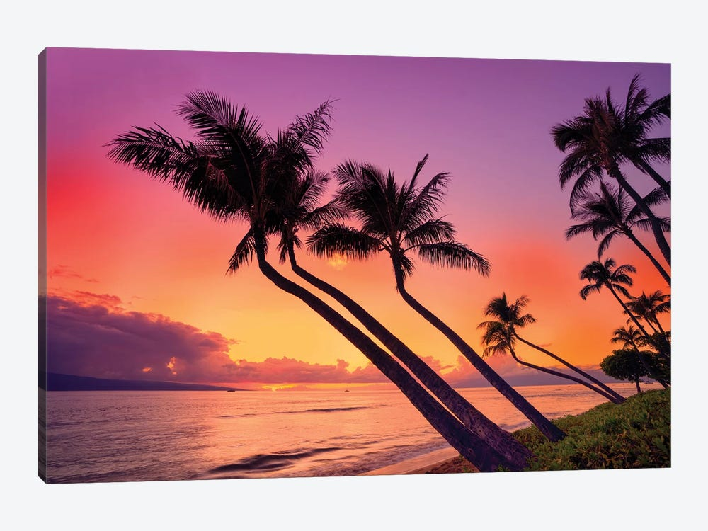 Sunset At Kaanapali Beach  by Susanne Kremer 1-piece Art Print