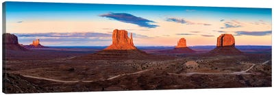 Sunset Monument Valley Navajo Tribal Park II Canvas Art Print