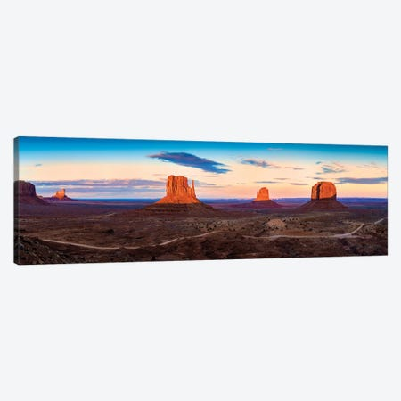 Sunset Monument Valley Navajo Tribal Park II 3-Piece Canvas #SKR234} by Susanne Kremer Canvas Print