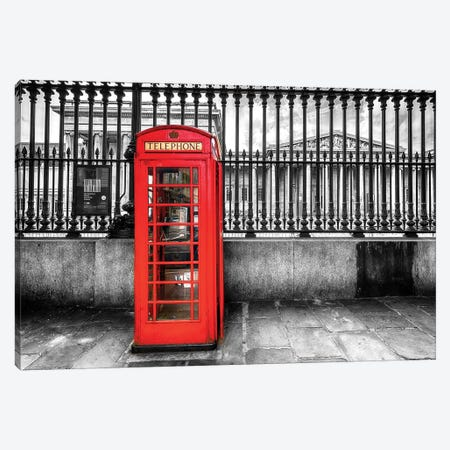 Telephone Booth At The British Museum  Canvas Print #SKR240} by Susanne Kremer Canvas Print
