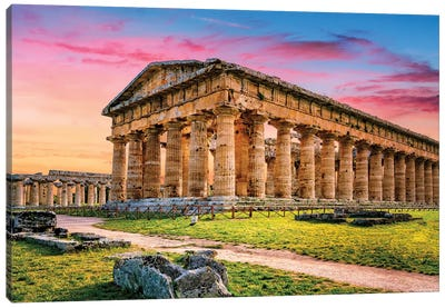 Temple of Neptune I Canvas Art Print