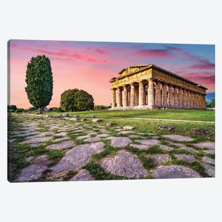 Temple of Neptune II Canvas Print #SKR242} by Susanne Kremer Art Print