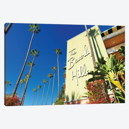 The Beverly Hills Hotel II Canvas Print #SKR244} by Susanne Kremer Canvas Art