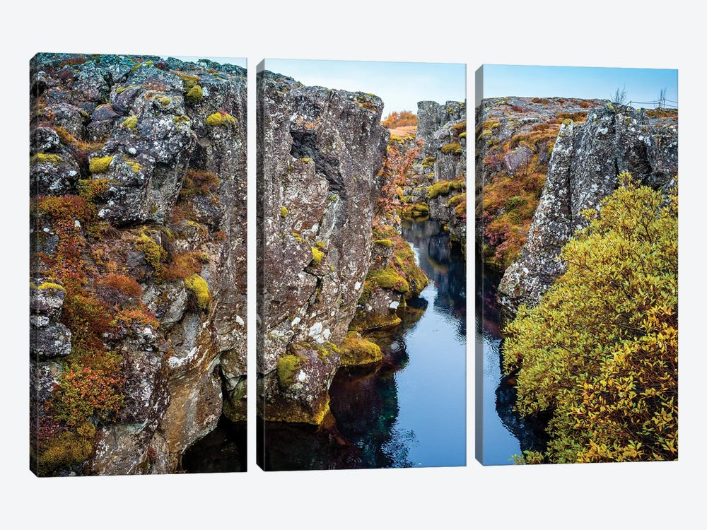 Thingvellir National Park  by Susanne Kremer 3-piece Art Print
