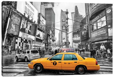 Times Square Yellow Cab I Canvas Art Print