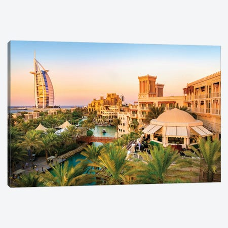 Burj Al Arab Jumeirah I Canvas Print #SKR24} by Susanne Kremer Canvas Art Print