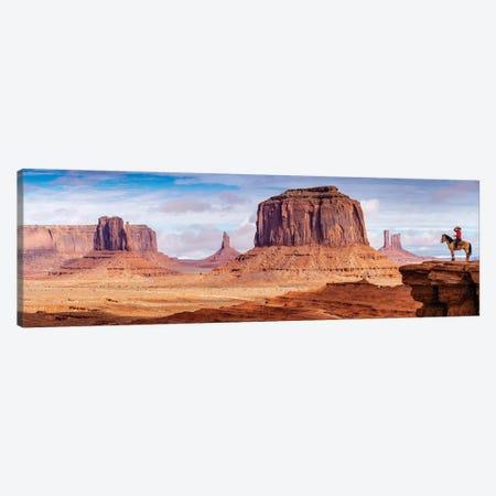 Tom Ford Point Navajo Man On Horse  Canvas Print #SKR250} by Susanne Kremer Canvas Art