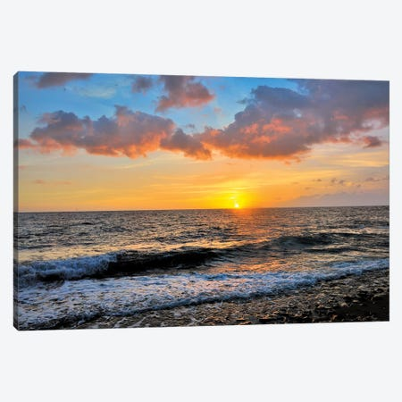 Tres Palmas Beach Sunset  Canvas Print #SKR253} by Susanne Kremer Canvas Art
