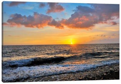Tres Palmas Beach Sunset  Canvas Art Print