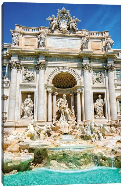 Trevi Fountain  Canvas Art Print