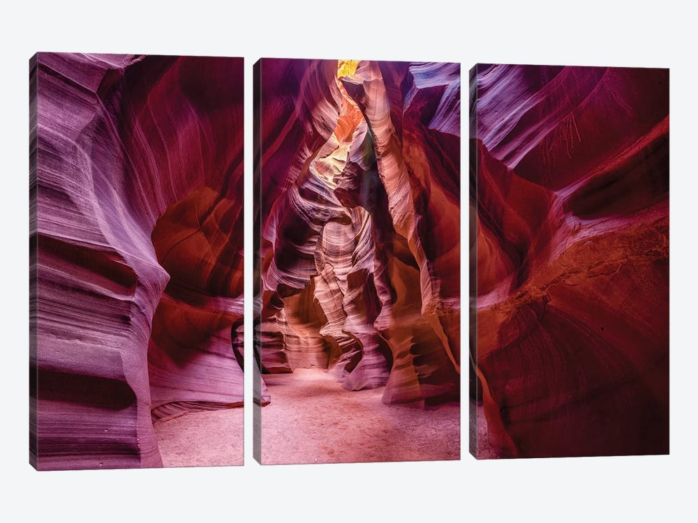 Upper Antelope Canyon Navajo Tribal Park by Susanne Kremer 3-piece Canvas Art