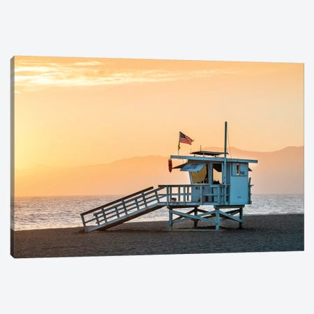 Venice Beach Sunset  Canvas Print #SKR257} by Susanne Kremer Canvas Art Print