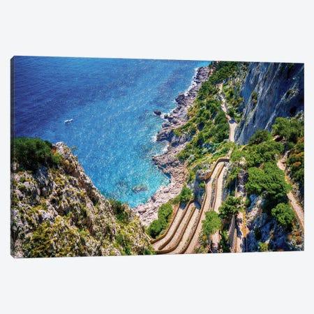 Via Krupp, Capri  Canvas Print #SKR258} by Susanne Kremer Canvas Artwork