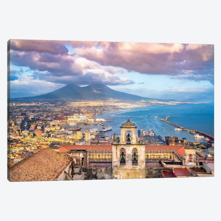 View of Castel Sant Elmo  Canvas Print #SKR259} by Susanne Kremer Canvas Art