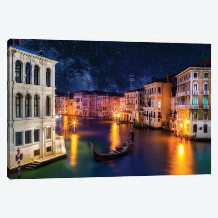 View of Grand Canal  Canvas Print #SKR260} by Susanne Kremer Canvas Print